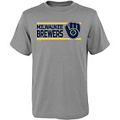 Gen2 Youth Milwaukee Brewers Dri-Tek Grey T-Shirt