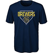 Gen2 Youth Milwaukee Brewers Dri-Tek Navy T-Shirt