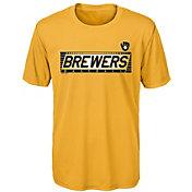 Gen2 Youth Milwaukee Brewers Switch Hitter Dri-Tek T-Shirt
