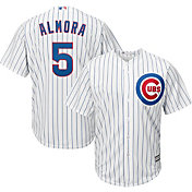 Majestic Youth Replica Chicago Cubs Albert Almora Jr. #5 Cool Base Home White Jersey
