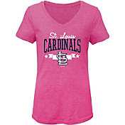 Gen2 Youth Girls' St. Louis Cardinals Pink Tri-Blend V-Neck T-Shirt