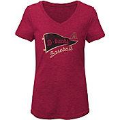 Gen2 Youth Girls' Arizona Diamondbacks Tri-Blend V-Neck T-Shirt
