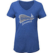 Gen2 Youth Girls' Los Angeles Dodgers Tri-Blend V-Neck T-Shirt