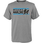 Gen2 Youth Miami Marlins Dri-Tek Grey T-Shirt