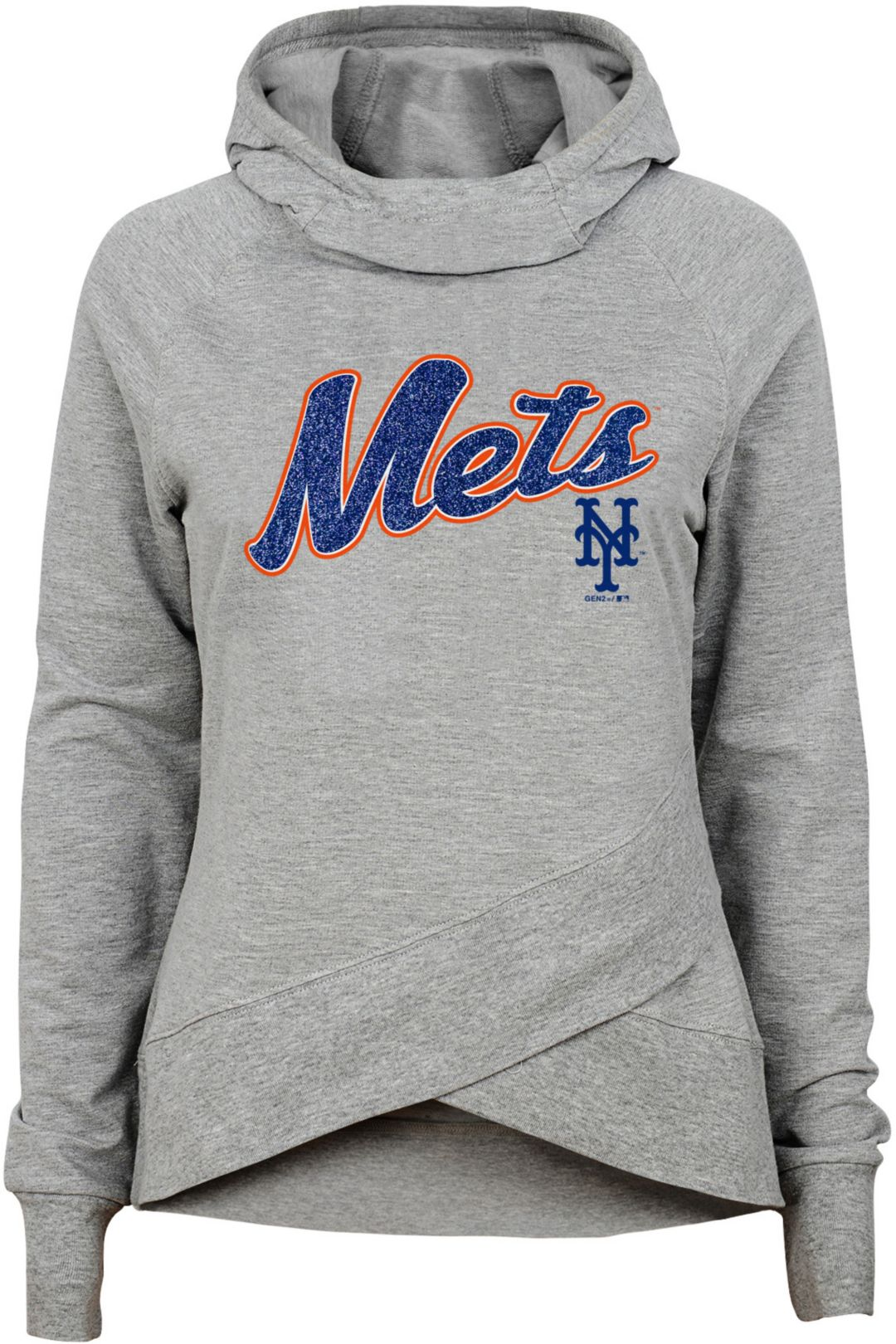 various colors 2168d 980c0 Gen2 Youth Girls' New York Mets Funnel Neck Pullover Hoodie