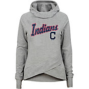 Gen2 Youth Girls' Cleveland Indians Funnel Neck Pullover Hoodie