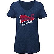 Gen2 Youth Girls' Cleveland Indians Tri-Blend V-Neck T-Shirt