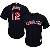 Majestic Youth Replica Cleveland Indians Francisco Lindor #12 Cool Base Alternate Navy Jersey