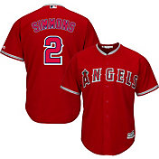 Majestic Youth Replica Los Angeles Angels Andrelton Simmons #2 Cool Base Alternate Red Jersey