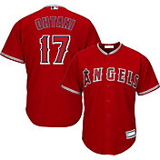 Majestic Youth Replica Los Angeles Angels Shohei Ohtani #17 Cool Base Alternate Red Jersey