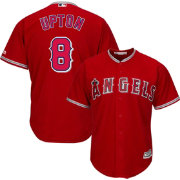 Majestic Youth Replica Los Angeles Angels Justin Upton #8 Cool Base Alternate Red Jersey