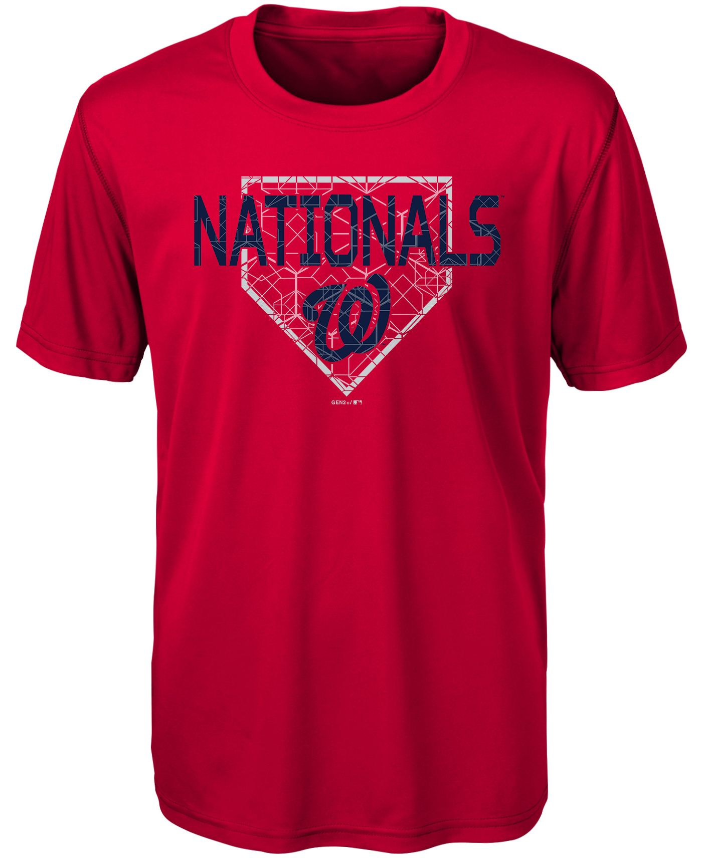 Gen2 Youth Washington Nationals Dri-Tek Red T-Shirt