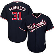 Majestic Youth Replica Washington Nationals Max Scherzer #31 Cool Base Alternate Navy Jersey