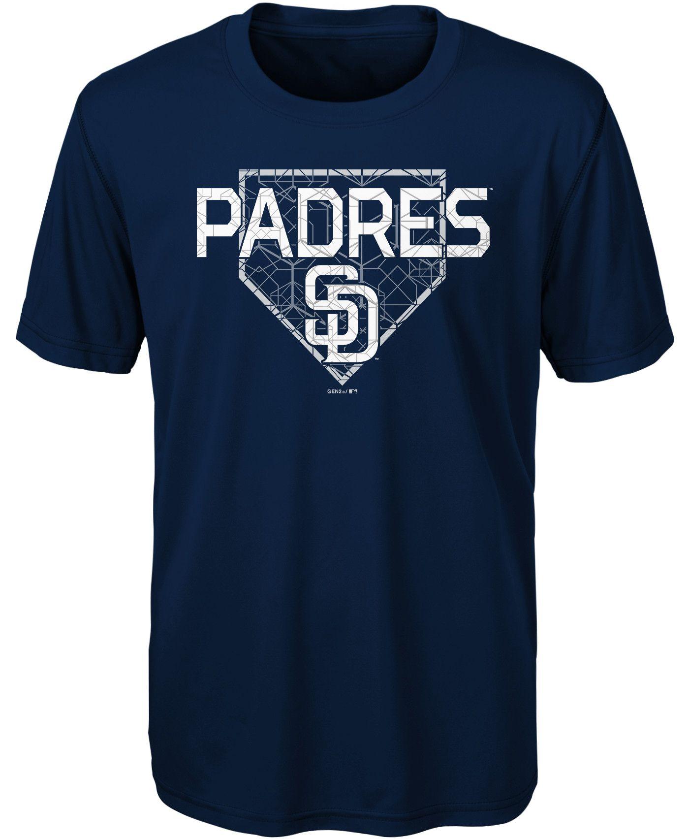 Gen2 Youth San Diego Padres Dri-Tek Navy T-Shirt