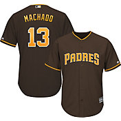Majestic Youth Replica San Diego Padres Manny Machado #13 Cool Base Alternate Brown Jersey
