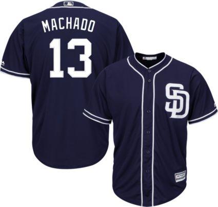 341e5fc87c6 Majestic Youth Replica San Diego Padres Manny Machado  13 Cool Base  Alternate Navy Jersey. noImageFound