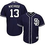 Majestic Youth Replica San Diego Padres Manny Machado #13 Cool Base Alternate Navy Jersey