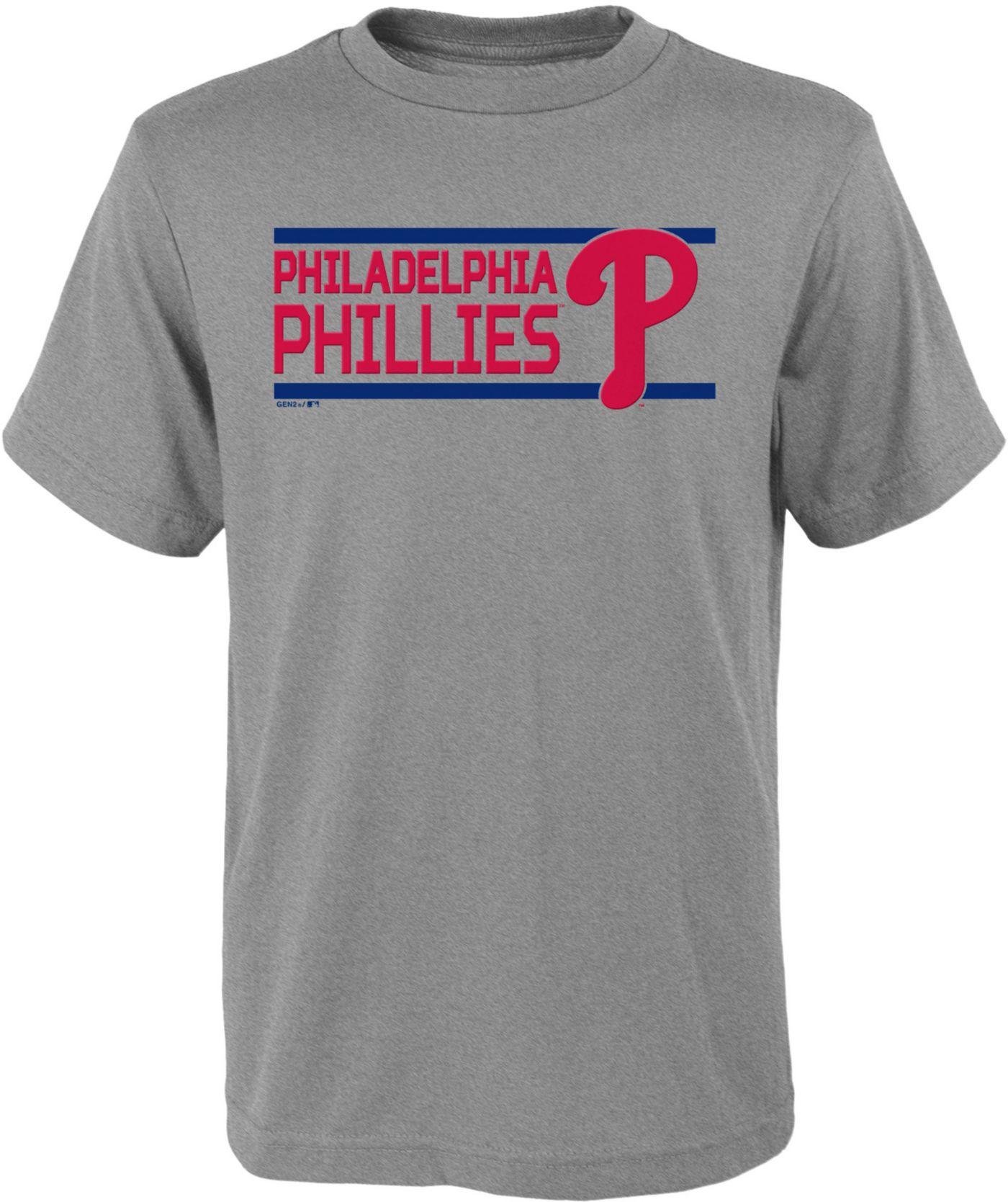 Gen2 Youth Philadelphia Phillies Dri-Tek Grey T-Shirt