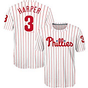 Majestic Youth Philadelphia Phillies Bryce Harper #3 Cooperstown White T-Shirt