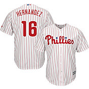 Majestic Youth Replica Philadelphia Phillies Cesar Hernandez #16 Cool Base Home White Jersey
