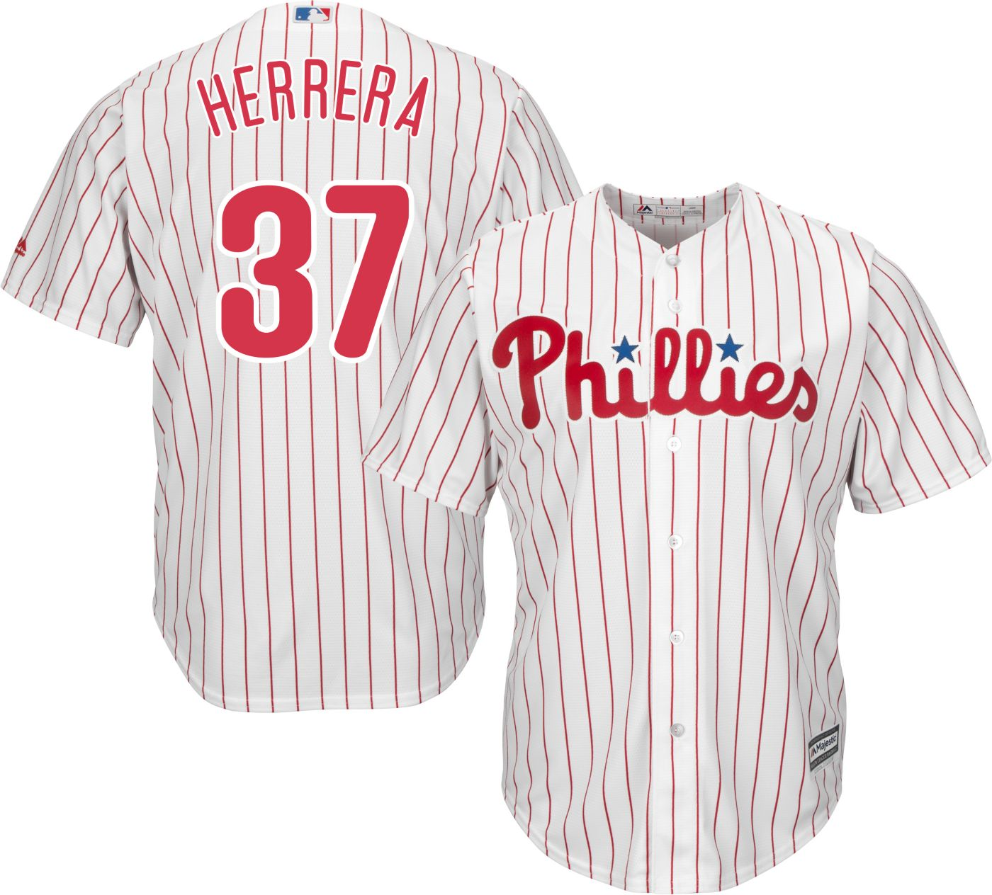 Majestic Youth Replica Philadelphia Phillies Odubel Herrera #37 Cool Base Home White Jersey