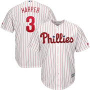 Majestic Youth Replica Philadelphia Phillies Bryce Harper #3 Cool Base Home White Jersey