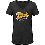 Gen2 Youth Girls' Pittsburgh Pirates Tri-Blend V-Neck T-Shirt