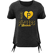 Gen2 Youth Girls' Pittsburgh Pirates Side Ties Tri-Blend T-Shirt