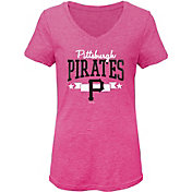 Gen2 Youth Girls' Pittsburgh Pirates Pink Tri-Blend V-Neck T-Shirt
