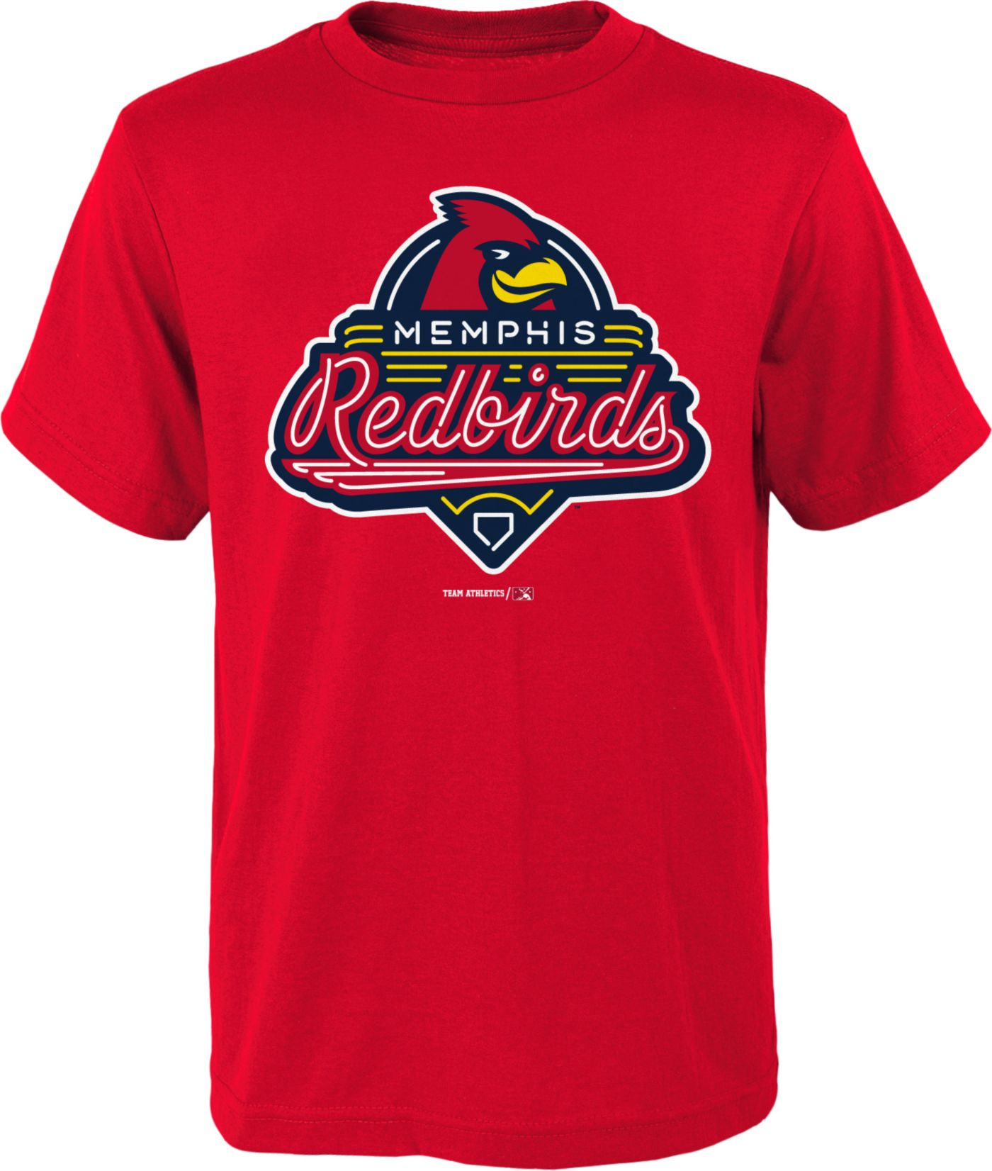 Majestic Youth Memphis Redbirds Red T-Shirt