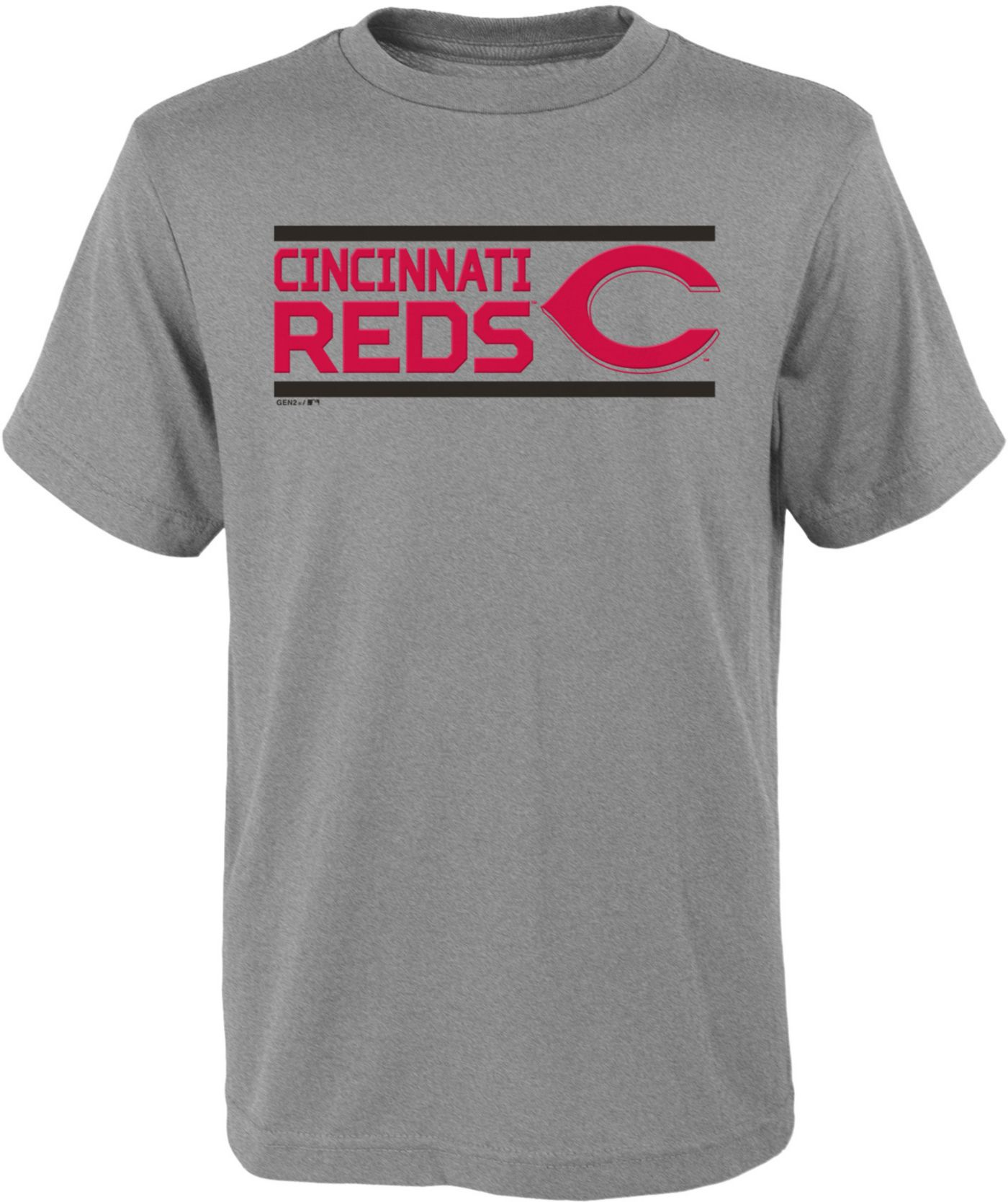 Gen2 Youth Cincinnati Reds Dri-Tek Grey T-Shirt