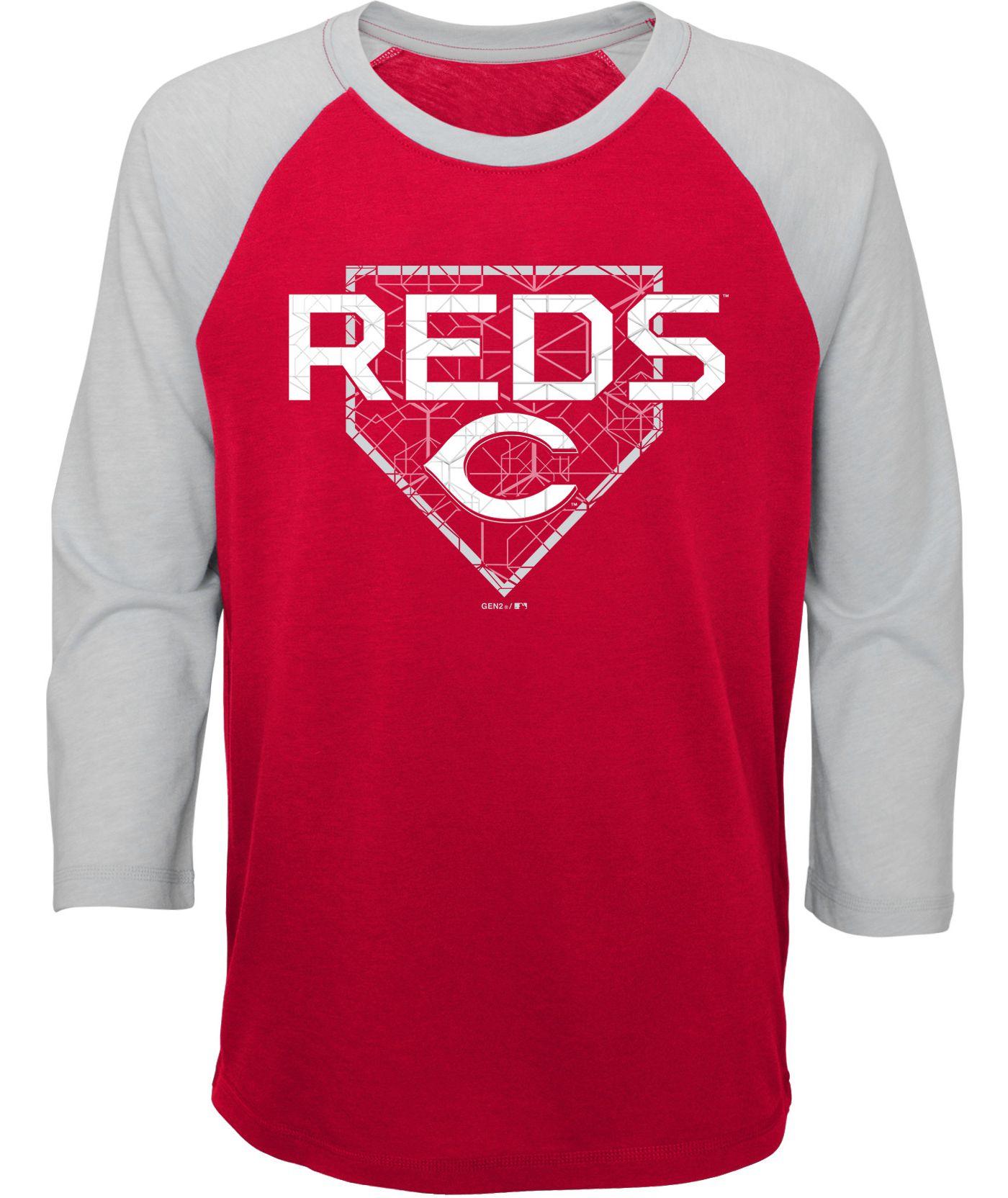 Gen2 Youth Cincinnati Reds Three-Quarter Sleeve Shirt