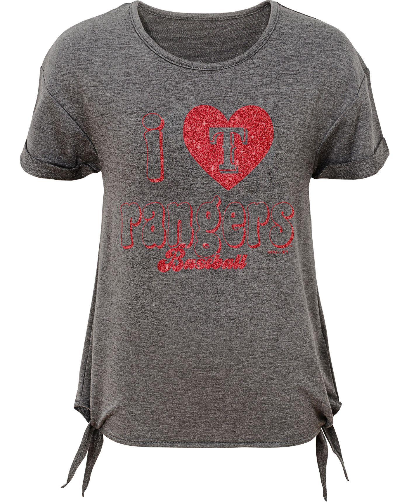 Gen2 Youth Girls' Texas Rangers Side Ties Tri-Blend T-Shirt