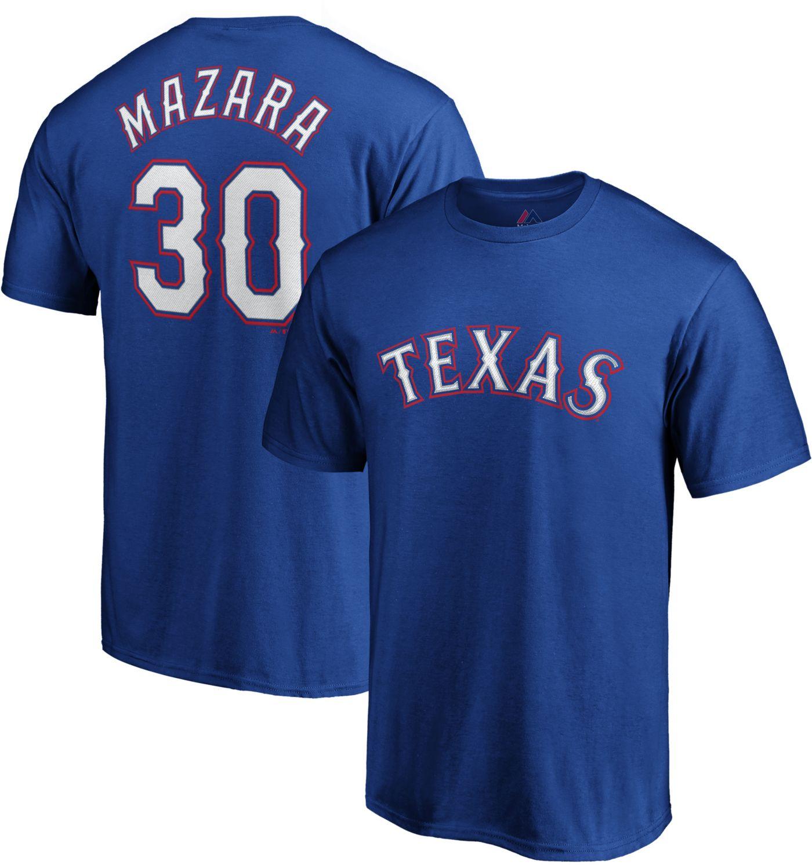 Majestic Youth Texas Rangers Nomar Mazara #30 Royal T-Shirt