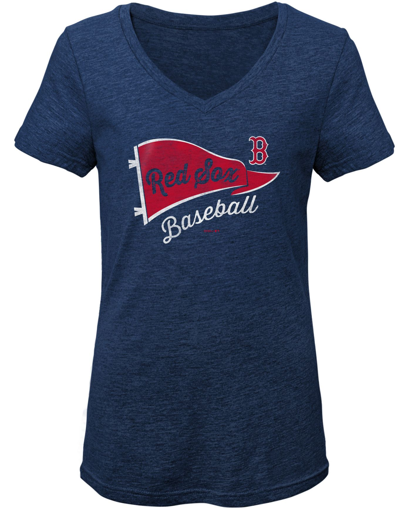 Gen2 Youth Girls' Boston Red Sox Tri-Blend V-Neck T-Shirt