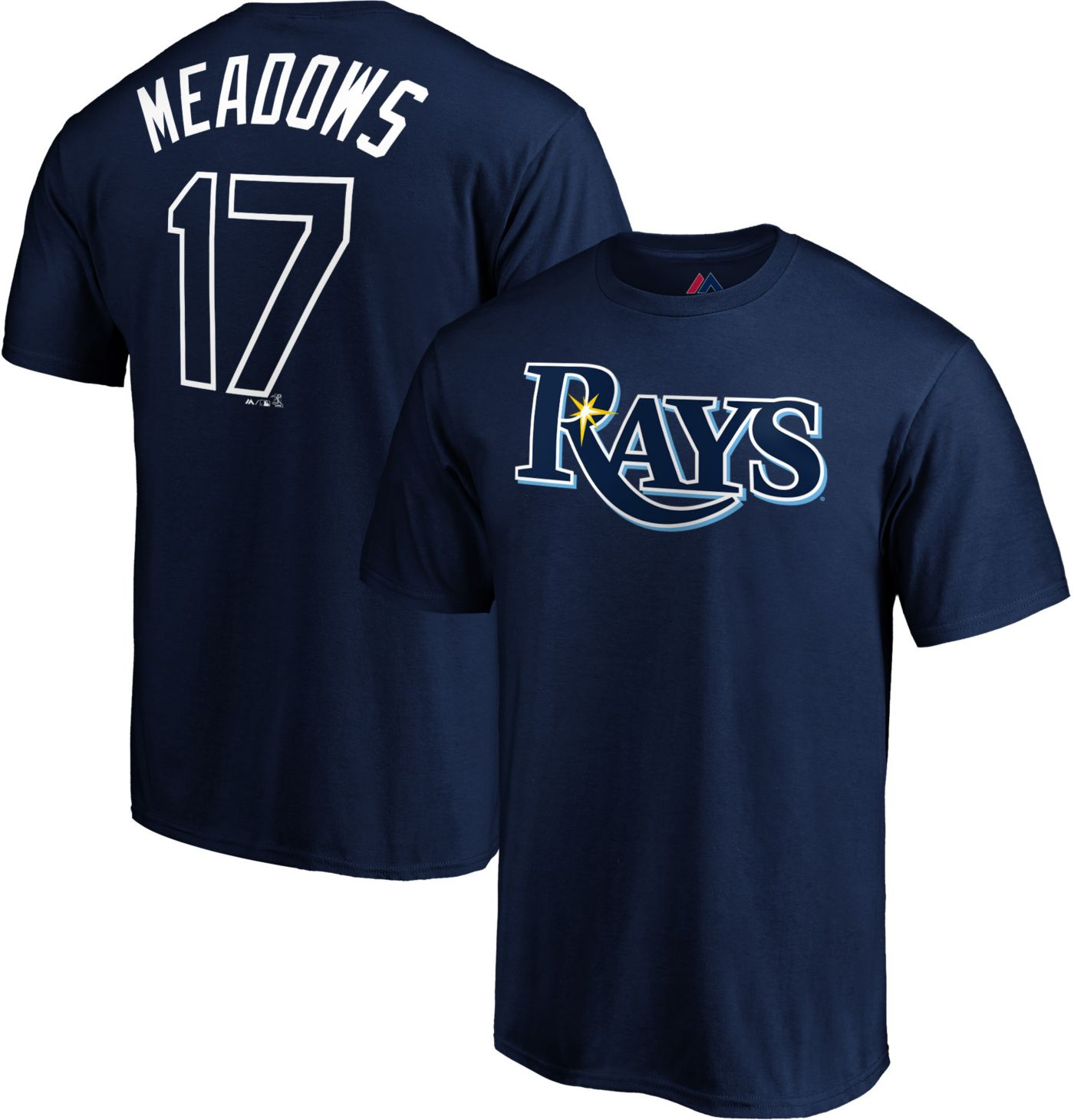 Majestic Youth Tampa Bay Rays Austin Meadows #17 Navy T-Shirt