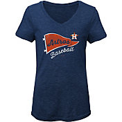 Gen2 Youth Girls' Houston Astros Tri-Blend V-Neck T-Shirt