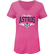 Gen2 Youth Girls' Houston Astros Pink Tri-Blend V-Neck T-Shirt