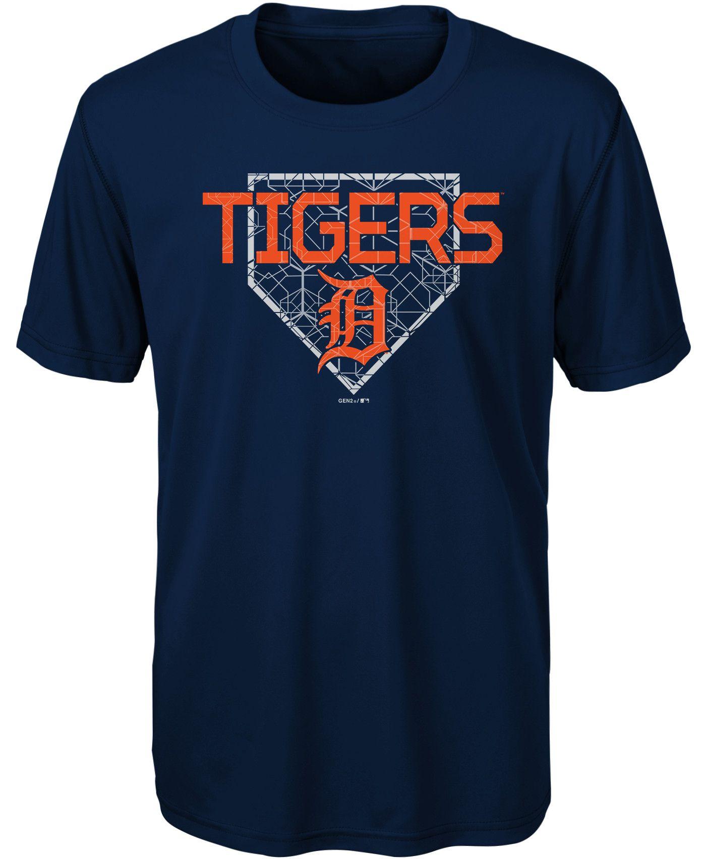 Gen2 Youth Detroit Tigers Dri-Tek Navy T-Shirt