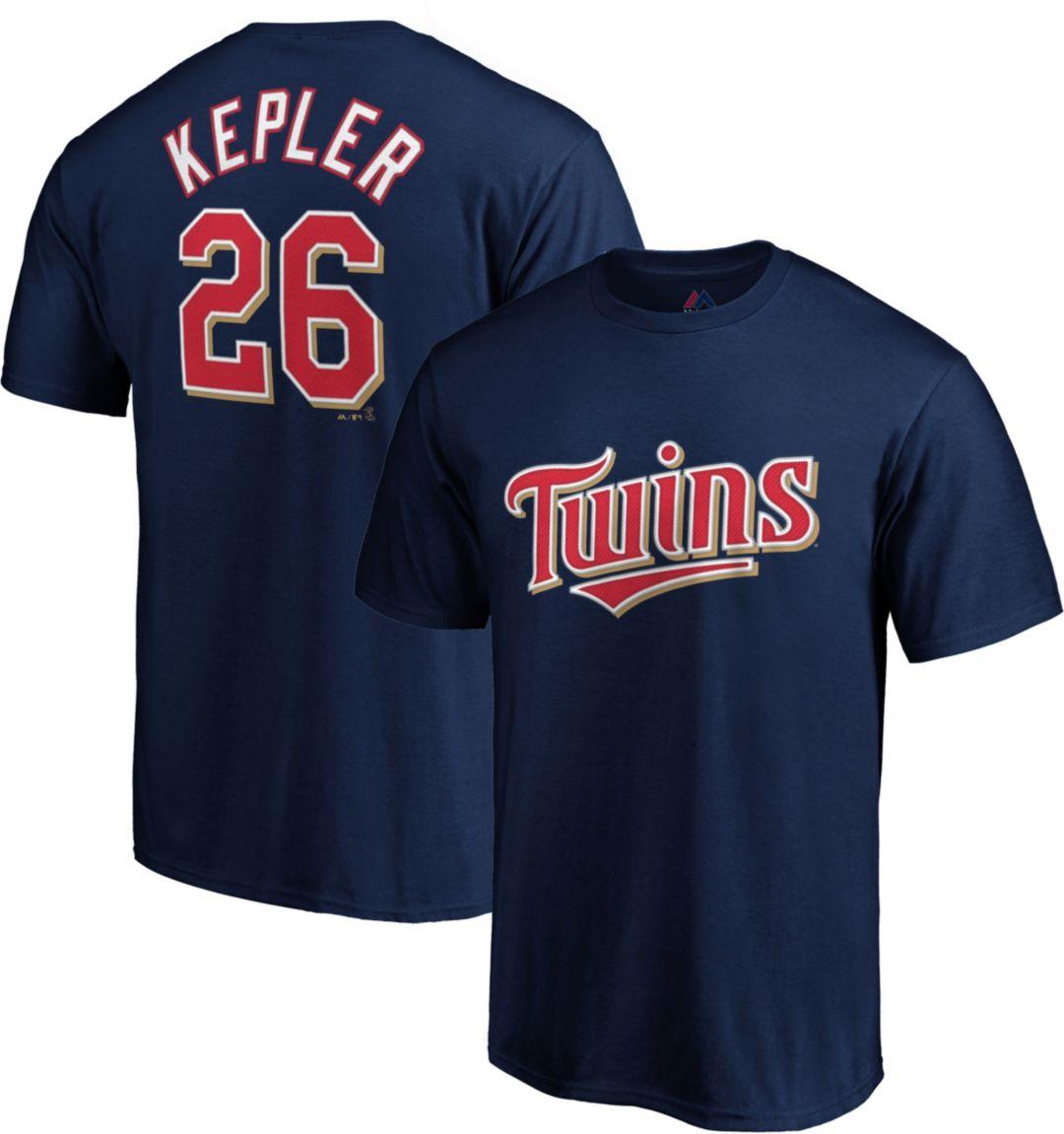 buy online d99d9 e6a0f Majestic Youth Minnesota Twins Max Kepler #26 Navy T-Shirt