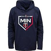 Majestic Youth Minnesota Twins 2019 MLB Postseason On-Field Therma Base Hoodie