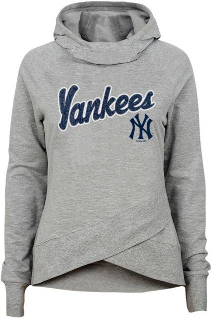 Gen2 Youth Girls  New York Yankees Funnel Neck Pullover Hoodie. noImageFound 49bcaa2f7e5