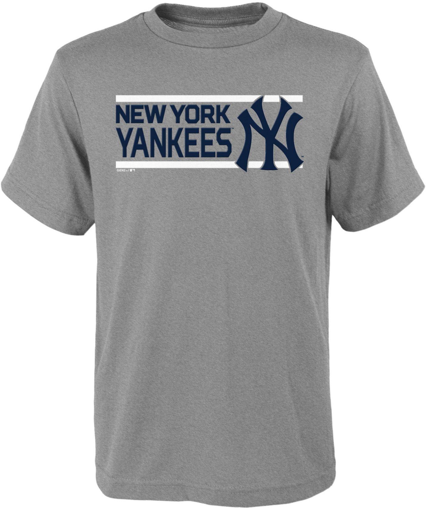 Gen2 Youth New York Yankees Dri-Tek Grey T-Shirt
