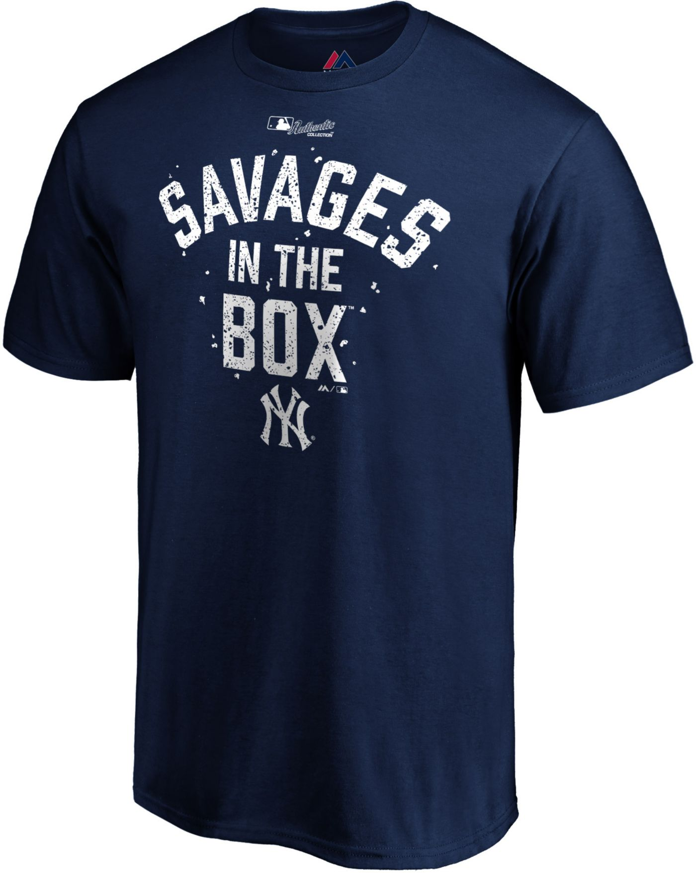 "Majestic Youth New York Yankees ""Savages In The Box"" Navy T-Shirt"