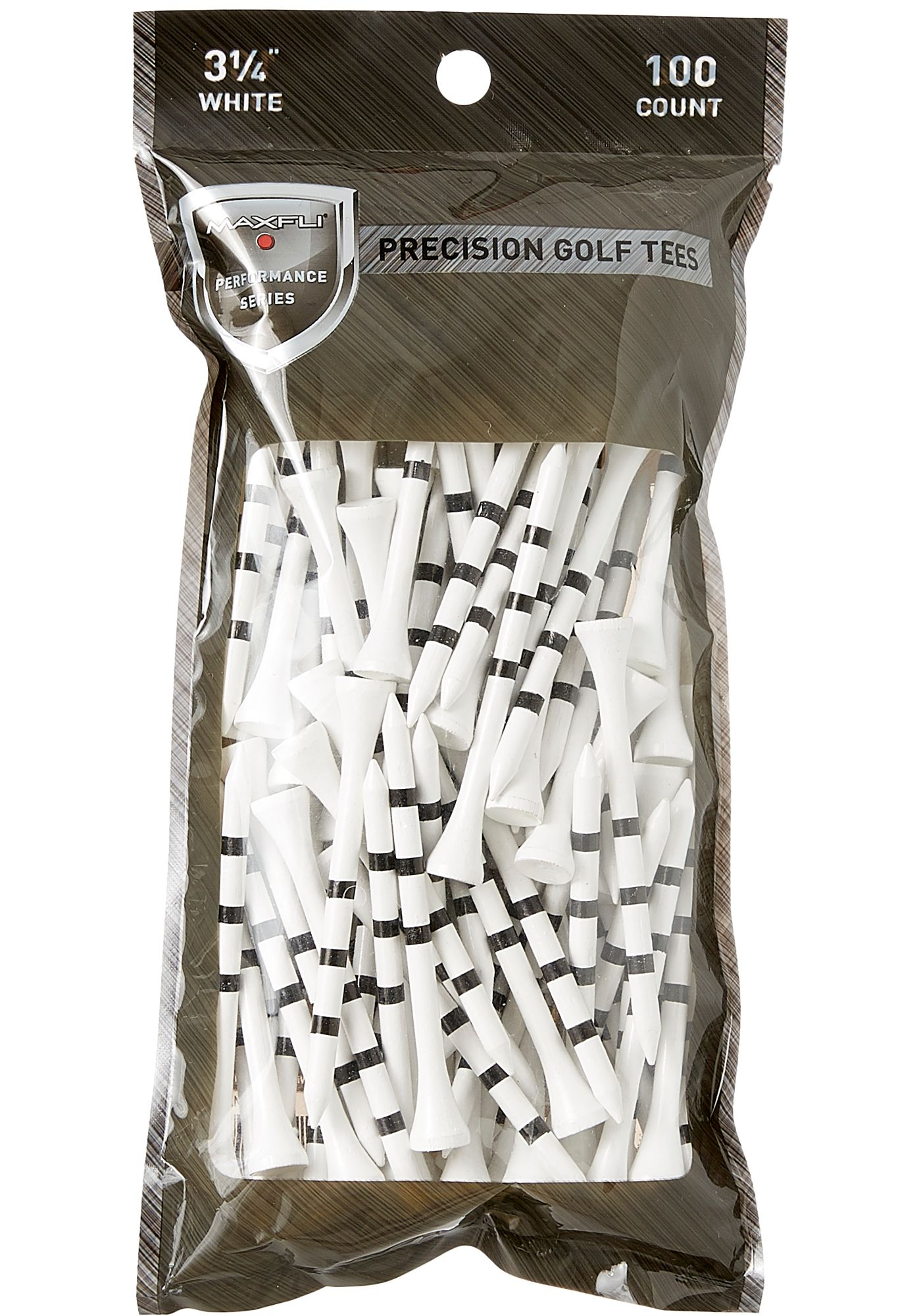 "Maxfli 3.25"" Performance Series Precision Golf Tees - 100-Pack"