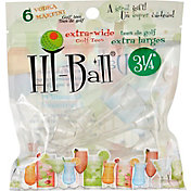 "Hi-Ball 3.25"" Clear Extra-Wide Golf Tees - 6-Pack"