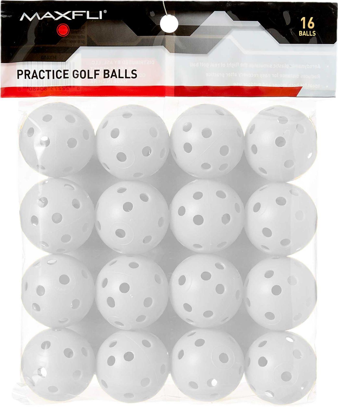 Maxfli Plastic Practice Balls - 16-Pack