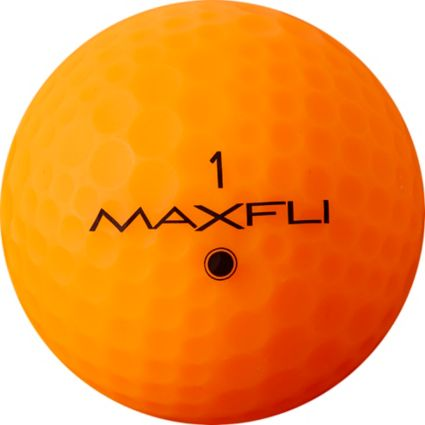 Maxfli StraightFli Matte Orange Personalized Golf Balls