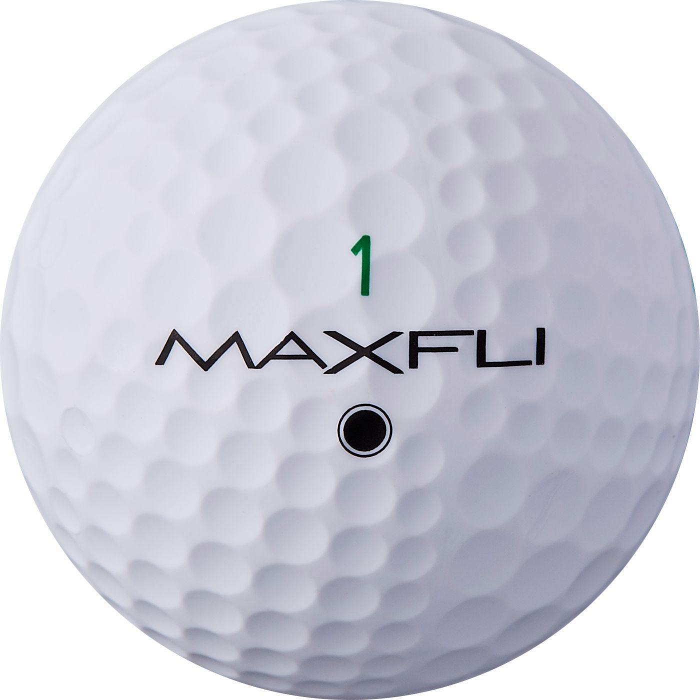 Maxfli StraightFli Matte White Personalized Golf Balls