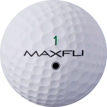 Maxfli StraightFli Matte White Personalized Golf Balls
